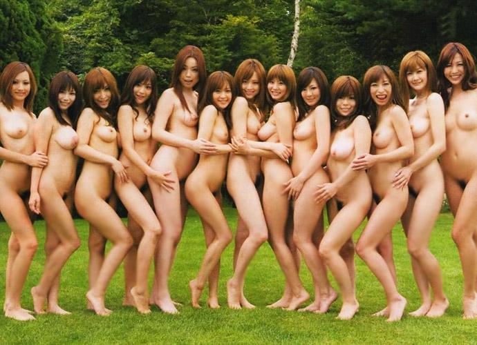 全裸で美女が大集合!