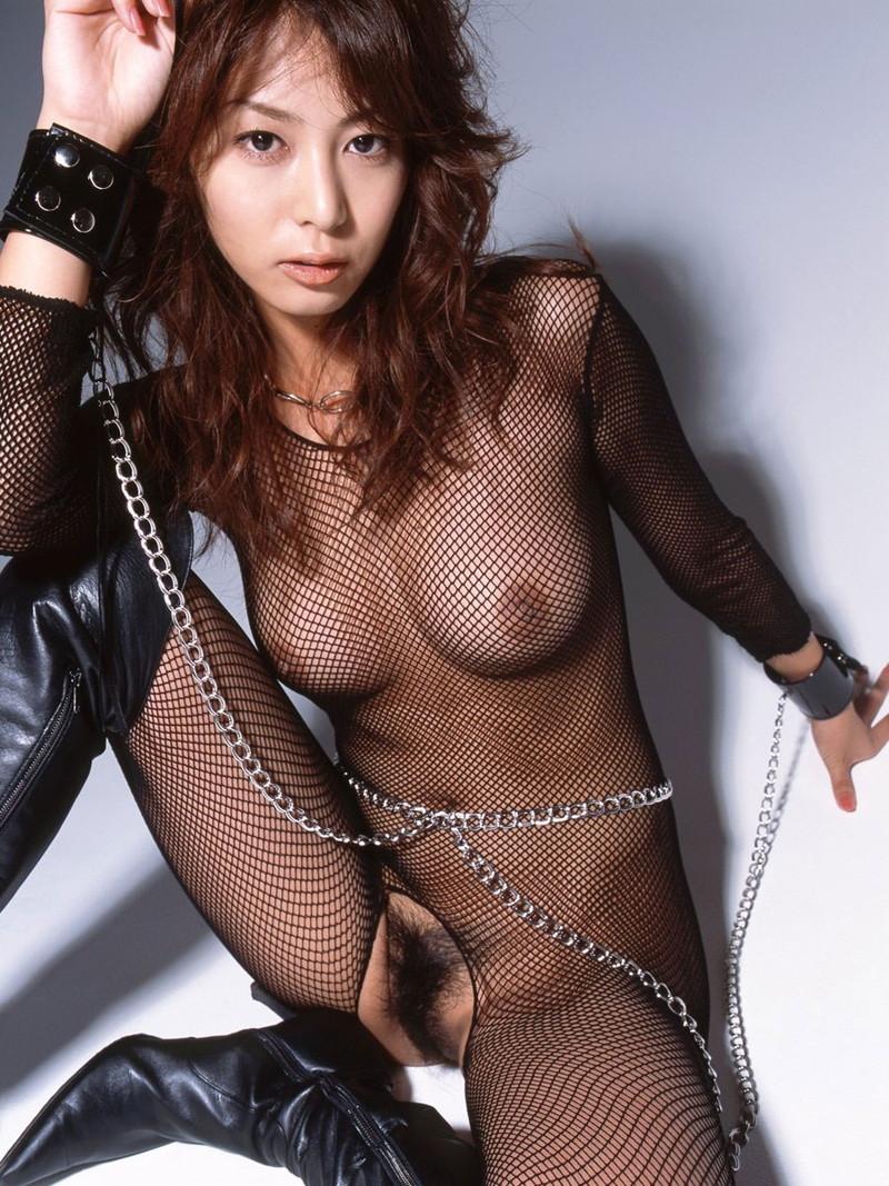 全裸に網タイツがエロい!