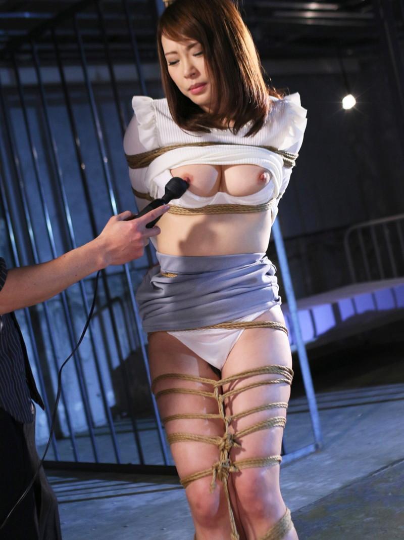 ドレス緊縛画像緊縛桟敷 股縄縛りエロ ボディースーツ