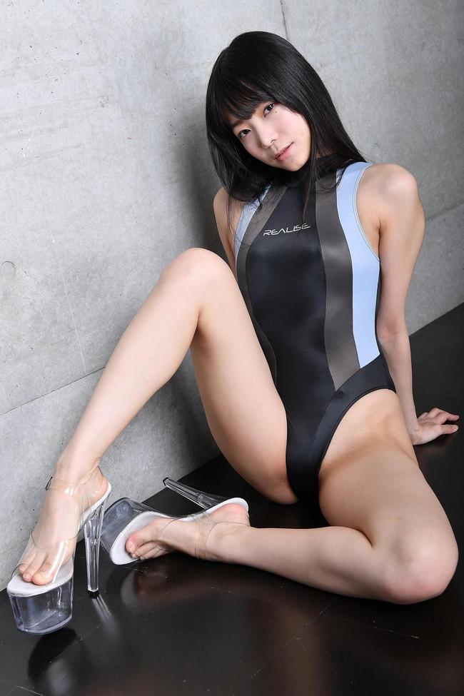 競泳水着が体に張り付く!