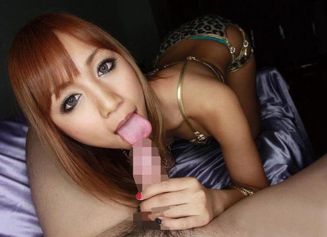 フェラするギャルの舌がエロい!