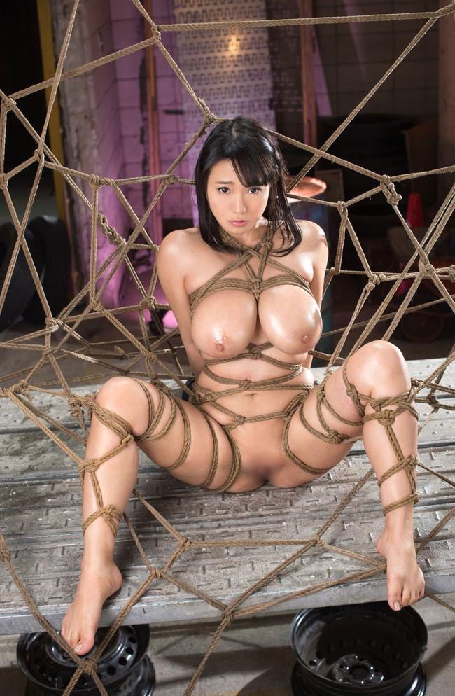 蜘蛛の巣のように縄が張り巡らせ…